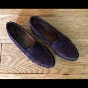 Coach Plum Suede Loafers